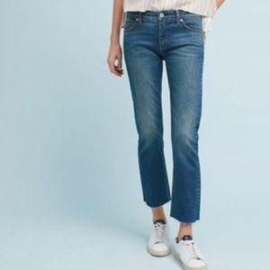 Anthropologie | Slim Straight Raw Step Hem Jeans